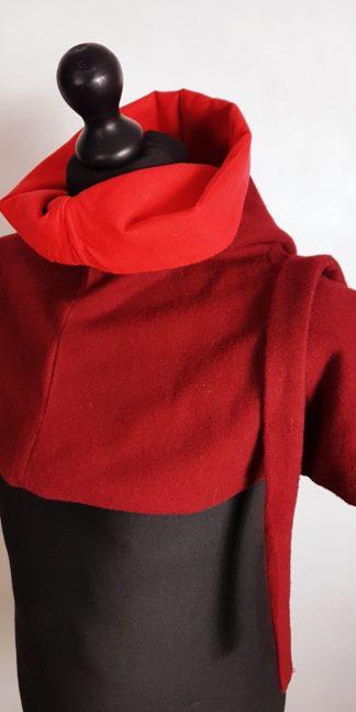 kaptur model2 czerwony